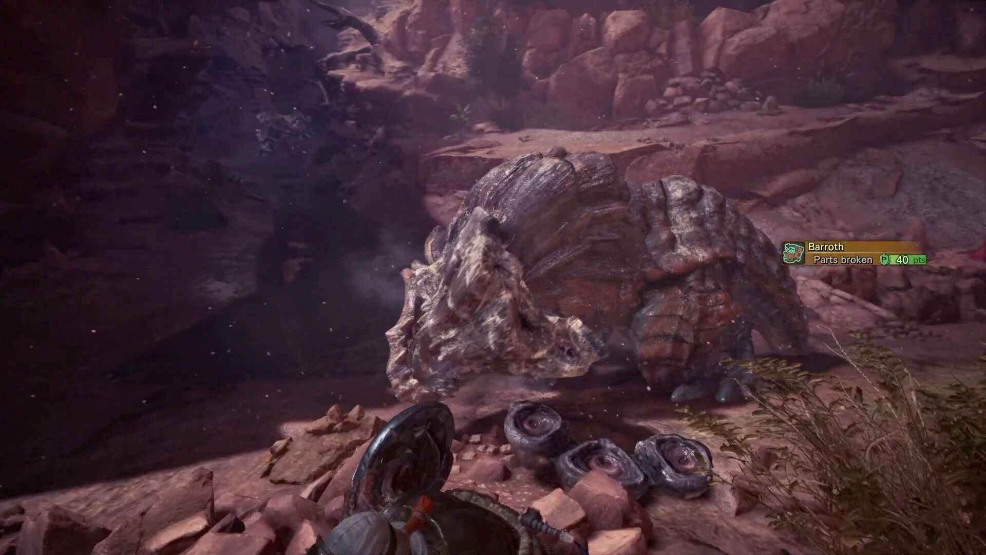 Breaking off Barroth's Crown