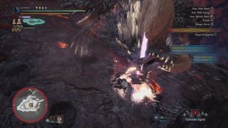 Fight with Nergigante on the Shell of Zorah Magdaros